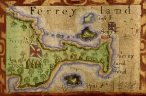 Map of Ferryland, Newfoundland