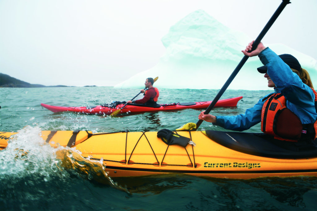 Kayaking on the Southern Shore of Newfoundland, just outside Tors Cove