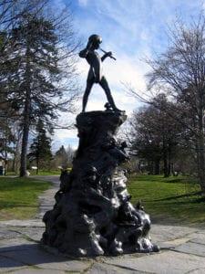 Peter Pan Statue in Bowring Park, St. John's