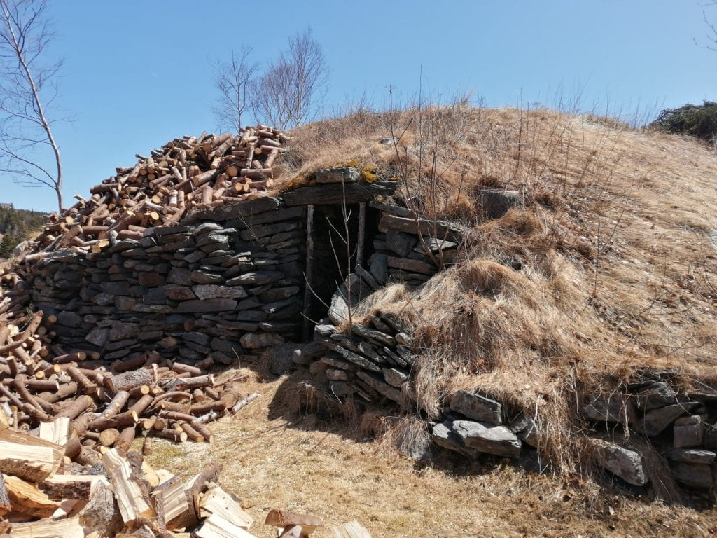 200-year-old Newfoundland Root Cellar built entirely by hand