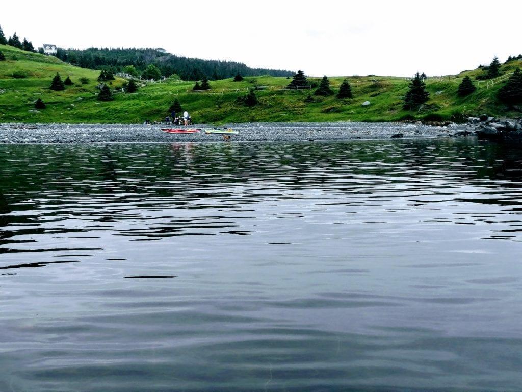 Cribbes meadow kayaker