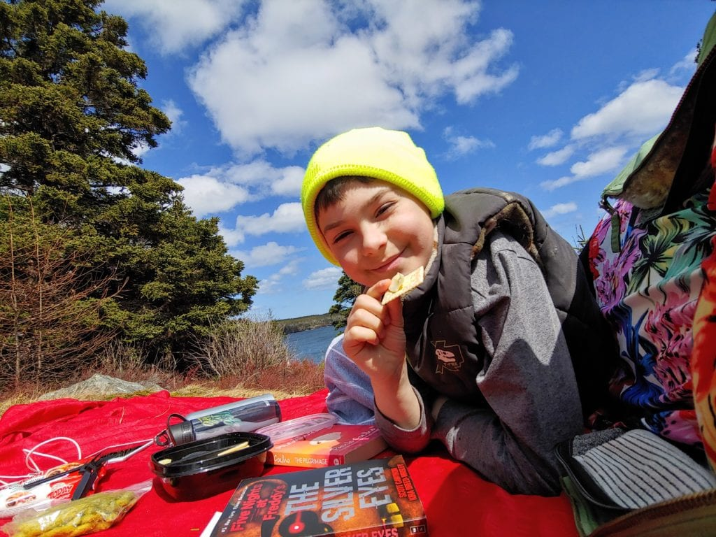 Always pack a snacks when on the Tinkers Point Path portion of the East Coast Trail in Newfoundland